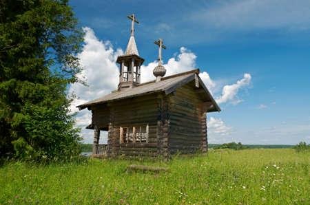 Wooden chapel of Alexander Nevsky,Kenozerye. Arkhangelsk region, Russia