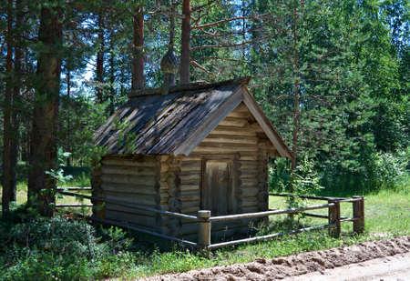 Wooden chapel of Kirik and Ulitka,,Kenozerye. Arkhangelsk region, Russia