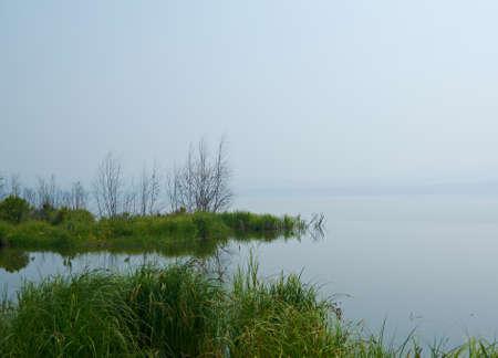 buryatia: Lake of Spirits, the Republic of Buryatia. Foggy morning