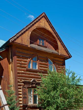 buryatia: house in the old style .Republic of Buryatia