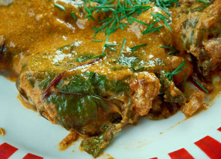 eastern: Beet-leaf Dolmades . Middle Eastern cuisine Stock Photo