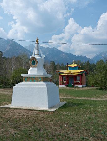 buryatia: Datsan - Palace of goddess Yanzhima, Barguzin valley,Buryatia, Russia, Editorial