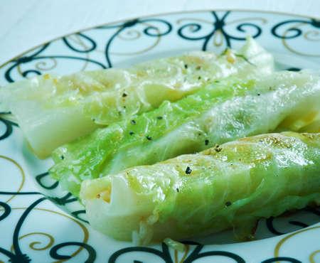 farci: Stuffed Cabbage Rolls Middle Eastern Style - Mahshi Malfouf Stock Photo