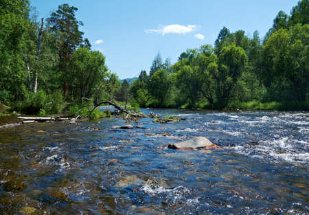 smal: Smal mountain river Kika.Republic of Buryatia