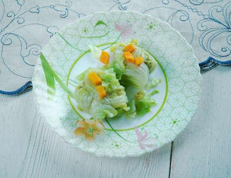 farci: Chou farci - Stuffed Cabbage Rolls de lAveyron Stock Photo