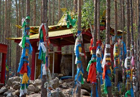 buryatia: Datsan - Palace of goddess Yanzhima, Barguzin valley,Buryatia, Russia, Stock Photo