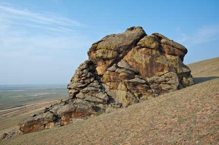buryatia: Saxon castle - rocks at Suvo village Barguzin valley,Buryatia, Russia,