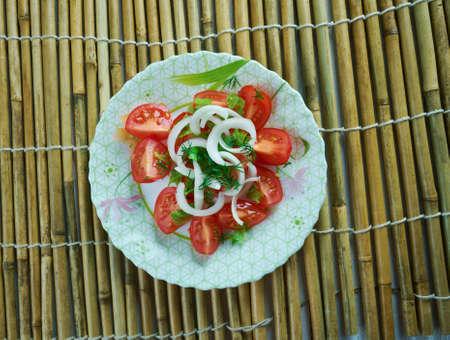 chilean: ensalada chilena - Vegetarian  Chilean Salad close up Stock Photo