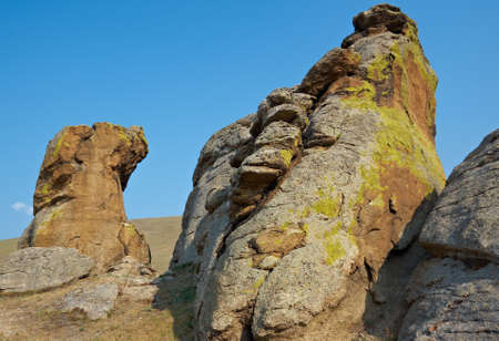 saxon: Saxon castle - rocks at Suvo village Barguzin valley,Buryatia, Russia,