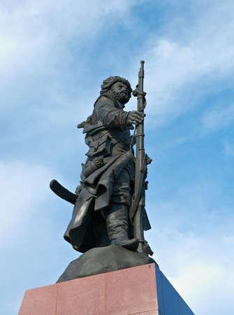 founders: Russia, Siberia, Irkutsk city.Monument to the founders of Irkutsk
