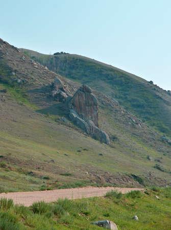 buryatia: Old rural road, Barguzin valley,Buryatia, Russia.