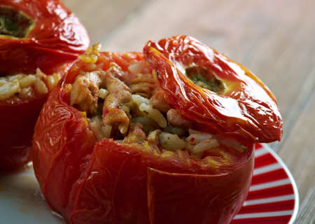 Etli Domates Dolmas?  tomato  stuffed with meat and rice. Middle East cuisine