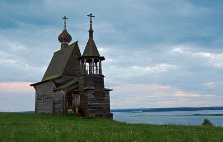 Wooden chapel St. Nicholas.Kenozerye, Arkhangelsk region, Russia