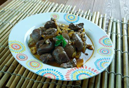 mutton: Mutton kidney roasted.Uighur dish Central Asian cuisine