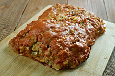 meatloaf: Italian Turkey, Potato , Zucchini Meatloaf Stock Photo