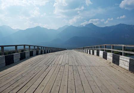 buryatia: Bridge over River Barguzin, Barguzin valley,Buryatia, Russia.