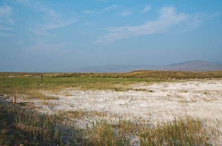 buryatia: Dried salt lakes, Barguzin valley,Buryatia, Russia. Stock Photo