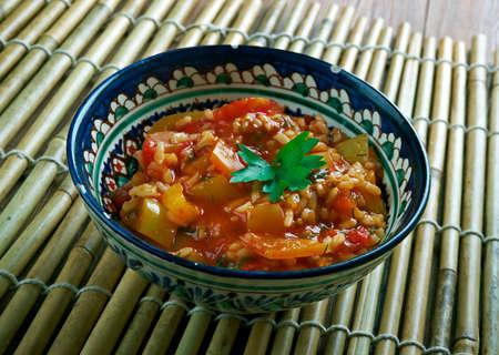 Domates Bast?s? -Turkish appetizer of tomato