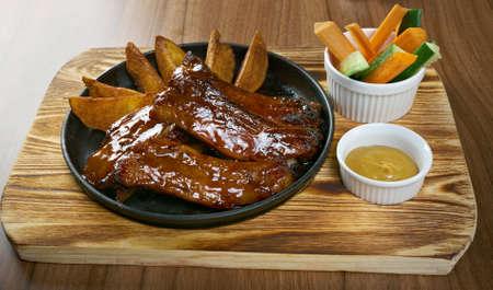 caramel sauce: Grilled caramelized pork ribs in caramel sauce