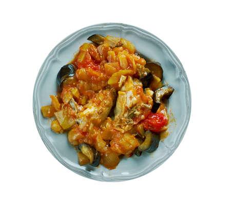 leguminosas: Las legumbres melanges - Mezcla de verduras con pollo Foto de archivo