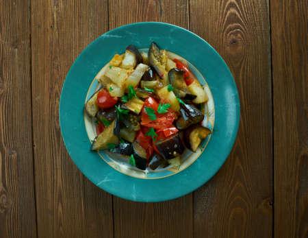 italian dish: Caponata Agrodolce - traditional  italian dish
