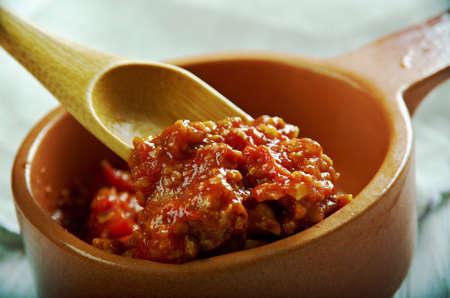 domates: Kuru domates ezmesi.omato nut spread. Turkish cuisine