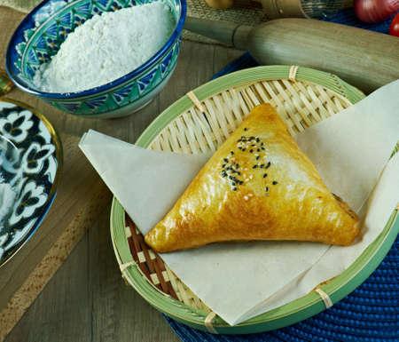 uzbek: Uzbek samsa pie Stock Photo