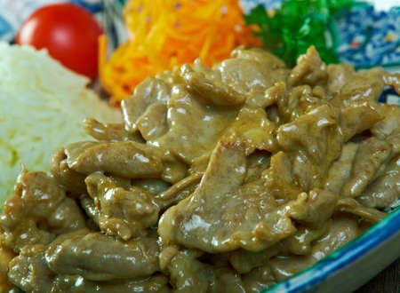 Chinese  pork slice with vegetables