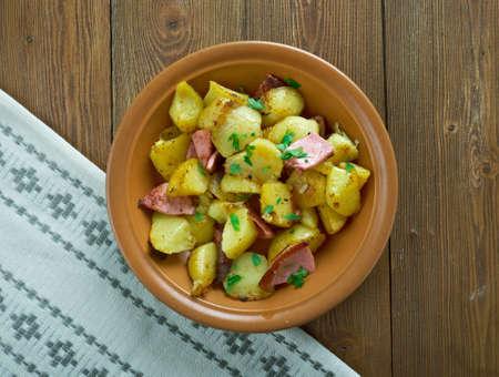 pomme de terre: Bratkartofle  - Polish Home fries close up