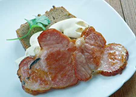 Paltbrod  Swedish speciality bread with bacon & white sauce