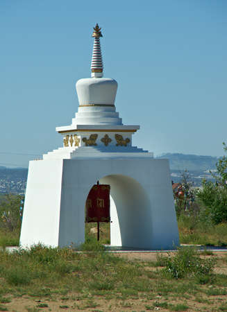 Buddhist temple in the Verhne-Beryozovsky Datsan Ulan-Ude city. Buryat Republic. Russia.