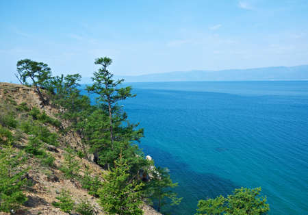 shamanism: coast of Olkhon island, lake Baikal, Siberia, Russia