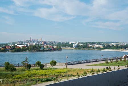 siberia: Russia, Siberia, Irkutsk city .Nizhnyaya Naberezhnaya Street Stock Photo