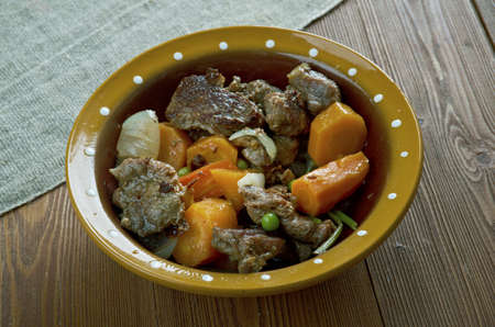 Crock pot Beef Stew. Canadian cuisine Stock Photo