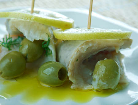 classics: Cumberland Stuffed Herrings With Mustard Sauce. British Classics fish