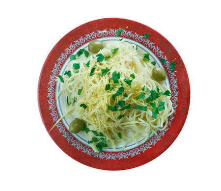 mee: Spaghetti with cheese pecorino