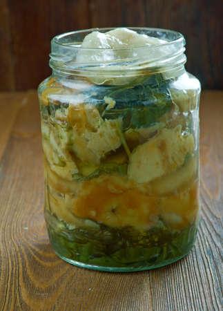 torminosus: Traditional pickled mushrooms. suolasienet - Finnish cuisine