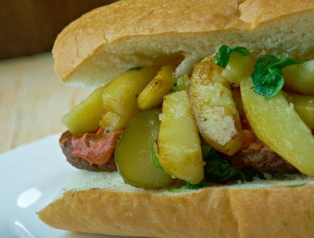 Mitraillette  type of sandwich which is a Belgian dish