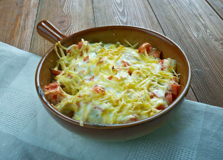 vegtables: King Ranch Chicken Casserole .American dish with chicken