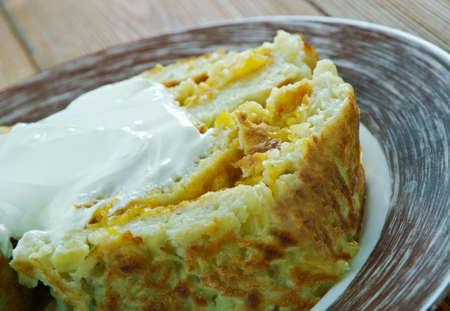 Roll of potato pancakes - deruny.Belarusian cuisine