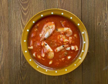 codfish: spanish snack with codfish and vegetable