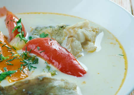 chowder: Creamy cockle chowder -  seafood soup.