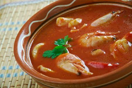 Bahia Salt Cod - Salted Cod Shrimp Stew . Brazil Stock Photo