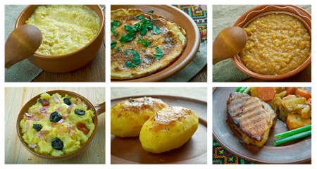 loci: Food set .Slavonic traditional  cuisine Stock Photo
