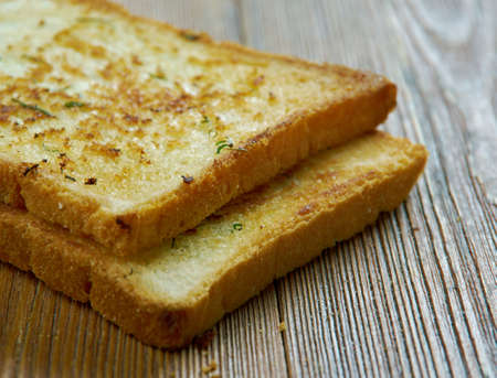Texas toast toast itself is made by putting butter or margarine on both sides Stock Photo