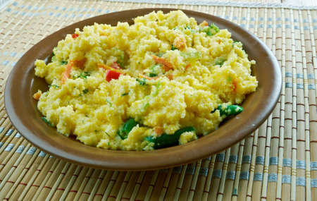 Upma n South Indian, Maharashtrian and Sri Lankan Tamils breakfast dish Stock Photo