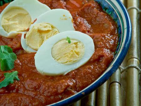 do: Eggs do pyaza.Classical Indian dish