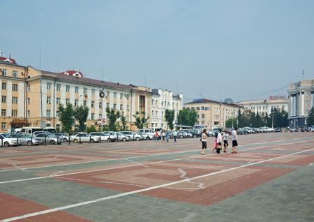 central square: Ulan-Ude city central square. Buryat Republic. Russia. July 25, 2016