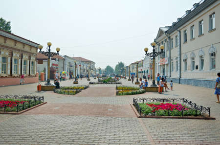 Ulan-Ude city. Walking Lenin Street .Buryat Republic. Russia. July 25, 2016