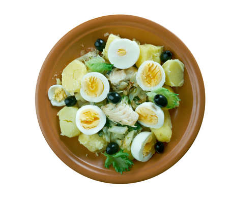 Bacalhau a Gomes de Sa  -  Portuguese  cod fish with vegetables and egg